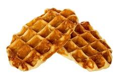 Waffles Liege, изолированные печенья Стоковые Фотографии RF