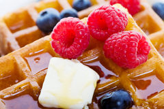 Waffles Nahaufnahme lizenzfreies stockfoto