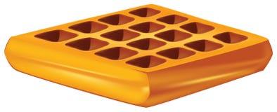 Waffles para o café da manhã ilustração stock