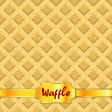 Waffles pattern seamless texture Stock Photography