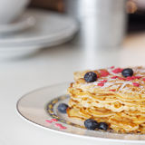 Waffles on a plate Royalty Free Stock Photos