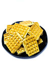 Waffles on a plate Royalty Free Stock Image