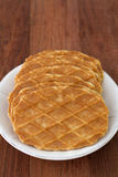 Waffles in plate Royalty Free Stock Images