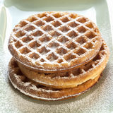 Waffles with Powdered Sugar Royalty Free Stock Image
