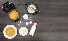 Preparation of waffles Stock Image