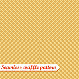 Waffles seamless vector pattern.  Stock Photo
