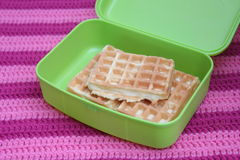 Waffles. Some waffles in a box Royalty Free Stock Image