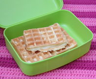 Waffles. Some waffles in a box Stock Photo