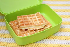 Waffles. Some waffles in a box stock images