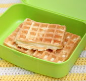 Waffles. Some waffles in a box royalty free stock images