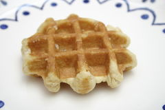 Waffles. Some homemade waffles of wheat flour and sugar royalty free stock photo