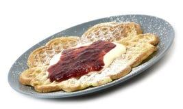 waffles sourcream варенья Стоковые Фото
