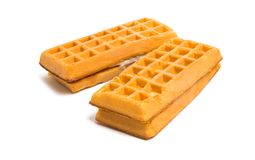 waffles stuffing isolated Stock Photography