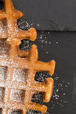 Waffles with sugar Stock Photos