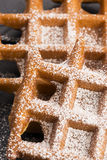 Waffles with sugar Stock Images