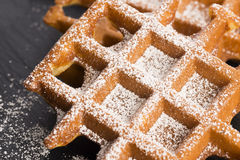 Waffles with sugar Stock Photo