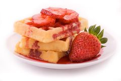 Waffles with syrup Royalty Free Stock Image