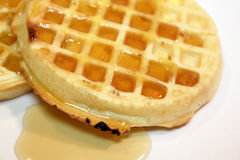 Waffles with syrup Stock Photography
