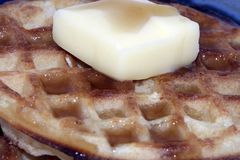 Waffles with Syrup Butter Royalty Free Stock Photo