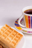 Waffles and tea Stock Photo