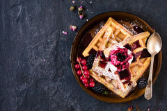 Waffles time Royalty Free Stock Photography