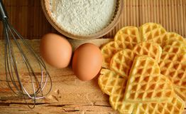 Waffles, Waffles Bake, Ingredients Royalty Free Stock Photo