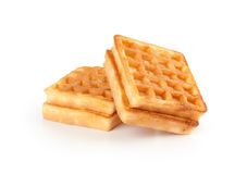 Waffles on white Royalty Free Stock Photo