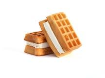 Waffles On White Stock Image