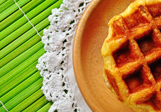A waffles on white background Royalty Free Stock Photos