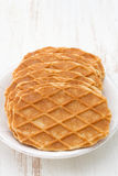 Waffles in white plate Royalty Free Stock Images