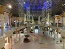 Wafi购物中心在迪拜,阿拉伯联合酋长国 免版税图库摄影