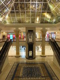 Wafi Mall in Dubai, UAE. The Wafi City complex includes a mall, hotel, restaurants, residences, and a nightclub. The city is styled after Ancient Egypt Royalty Free Stock Photography