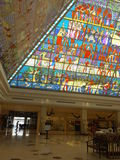 Wafi Mall in Dubai, UAE. The complex includes a mall, hotel, restaurants, residences, and a nightclub Royalty Free Stock Images