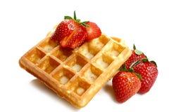 wafle truskawki Zdjęcie Stock