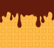 waft Opłatka polany czekoladowy syrop w górę również zwrócić corel ilustracji wektora royalty ilustracja