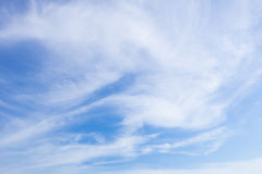 Wafting cloud in sky. Beautiful sky with wafting cloud Stock Photo