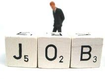waga osoby samotne bezrobotnych Zdjęcie Royalty Free