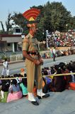 Wagah Border Guard royalty free stock photos