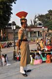 Wagah Border Guard Royalty Free Stock Photography