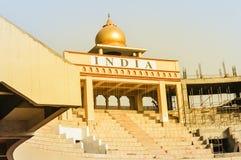 Wagah graniczy wejściową bramę PUNDŻAB, INDIA, AZJA fotografia royalty free