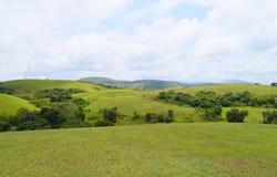 Wagamon Hills - Green Fields against Sky in Idukki, Kerala, India Stock Photography
