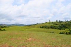 Wagamon Meadows - Greenery against Sky in Idukki, Kerala, India Stock Image