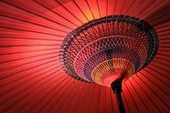Wagasa, красный японский зонтик Стоковая Фотография RF