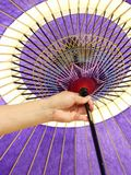 Japanese traditional umbrella Stock Images