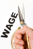 Wage Cut Royalty Free Stock Images