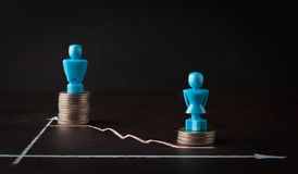 Free Wage Gap And Gender Equality Concept Royalty Free Stock Photo - 70055865