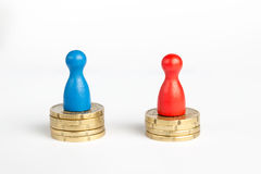 Wage gap concept Stock Photography