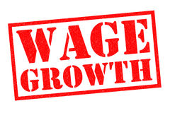 WAGE GROWTH Royalty Free Stock Photo