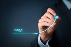 Wage increase Royalty Free Stock Photo