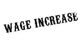 Wage Increase rubber stamp Stock Images